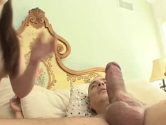 Charming chick, Angel Cakes got fucked in many positions in front of the camera, until she came