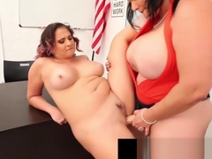Curvy Cuban Angelina Castro & Gia Love StrapOn Fuck School