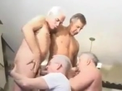 Horny homemade gay scene with Daddies, Bukkake scenes