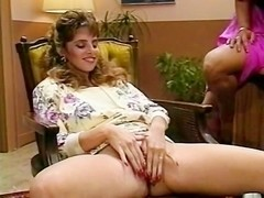 Hyapatia Lee, Rosemarie, Joey Silvera in threesome scene with two hot retro porn chicks