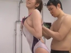 Best Japanese model Yuma Asami in Incredible Blowjob, Sports JAV scene