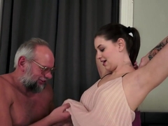 Curvy Teenager Creampied By Lucky Grandpa