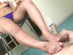 Best Japanese chick Akiho Nishimura in Fabulous Foot Job, Big Tits JAV video