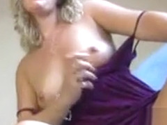 MILF jerk off encouragement on tits