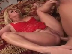 Very hot mature cougar miss his young cock Ginger Lynn Tom Byron