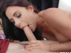 Kinky Lad Enjoys A Hot Brunette Riding His Erected Cock With Gia Dimarco
