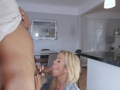 Alexis Fawx cock sucking her step sons big cock