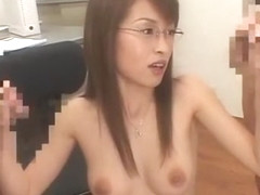 Best Japanese model Hikaru Hozuki in Incredible Blowjob, Threesome JAV video