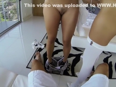 POV sex with Lily Love & Marina Angel