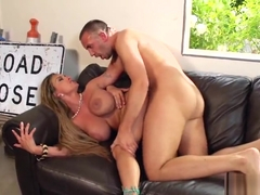 Blonde sex video featuring Holly Halston and Keiran Lee