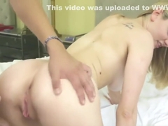 Sweet hot babe Alli Rae getting her large meaty dick