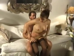vintage hard anal fucking by big cock with amazing facial for hot babe