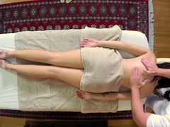Facialized Massage Babe Sucks On A Hard Cock