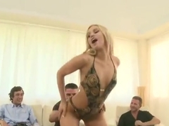 Unbelievable buxomy undergraduate Aleska Diamond in double penetration action