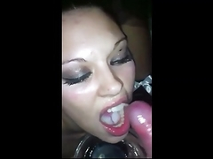 that babe eats a lot of cum!