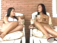 Hot latina shemales with guy in action