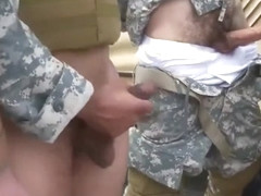 Jackson's muscular military mens penis hot gay blowjob with