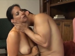Passionate mature with saggy tits is having casual sex in the office, during a coffee break