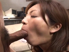 Asahi Miura gets cum facial after hard fucking