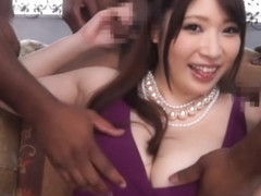 Three cocks pound Asian milf Saegusa Chitose