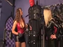 Dominas Give Cbt To Encased Pathetic Sub