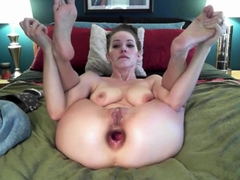 Cam Girl Does Insane Anal ATM Gape Fisting Show