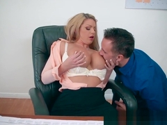 Brazzers - Big Tits at Work - A Case of the Moan Days scene