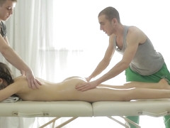Taissia Shanti & Bud & Matt in Massage And Golden Gate Fuck - YoungSexParties