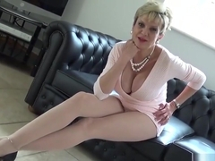 Cheating english mature lady sonia flaunts her huge titties