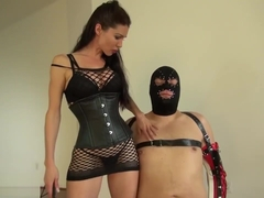 SUSI TEASE SLAVE IN CHASTITY