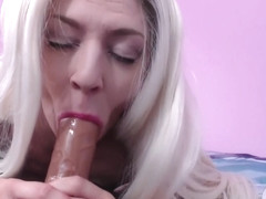 Butch dyke transforms into cock hungry bimbo