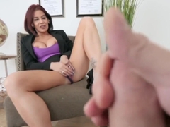 Stepmom milf fingers herself in pov