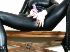 VERY Loud, Leg Shaking Orgasms & Dirty Talking in Black Catsuit