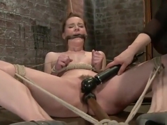 Good-looking Anna Pierceson featuring real BDSM action