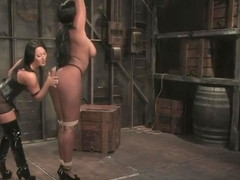 Fetish porn video featuring Sandra Romain and Candace Von