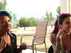 Crazy pornstars Jessica Creepshow, Seth Gamble, Joanna Angel in Hottest Interracial, Stockings adult video