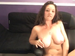Solo Act With A Hot Big Tits Curly Slut