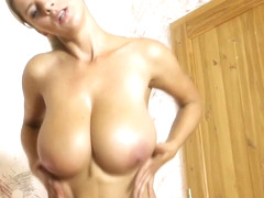 Busty MILF Jumping and Bouncing boobs