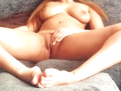Girl Rubs And Fingers Her Pussy To Real Orgasm
