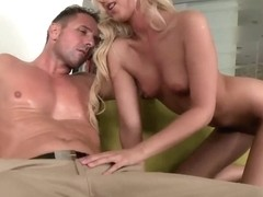 Blond Cat rides big sweet cock of her husband
