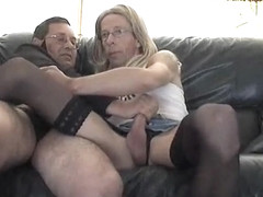 Amazing homemade shemale movie with Blowjob, Stockings scenes