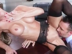 Horny Busty Girl (Jessica Jaymes) In Hard Style Banged In Office video-12