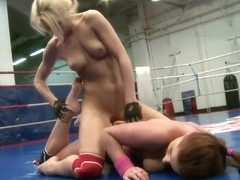NudeFightClub with Angel Rivas and Niky Gold