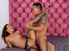 Teasing Asian Babe Throated And Fed With Cum