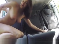 Hungarian hottie Felicia Kiss gets nasty in the back seat
