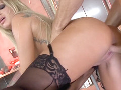 Delicious big ass blonde MILF hot fuck before the shoot