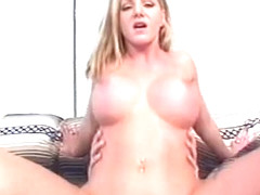 Amber Michaels takes a big one between her legs
