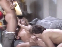 Vintage Curly Blonde Barbara Dare Sucks And Fucks In White