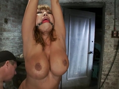 Huge boobed Ava Devine bound, gagged n made to orgasm