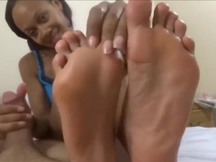 Foot Worship Handjob From Ebony Feet Foot Smother Foot Smell